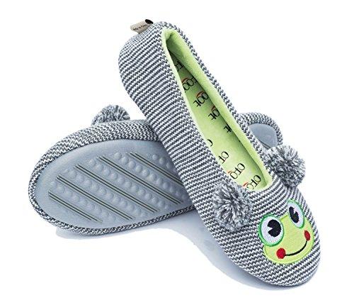 Ofoot , Damen Hausschuhe Gray Frog