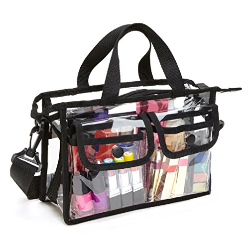 Sac à Main/Sac à Bandoulière Transparent, Moon mood Sacs de maquillage Sac de voyage en PVC Plastique Transparent Pochettes imperméable Sac de Sport Accessoires Organisateur pour Femmes et Hommes