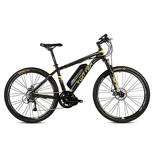 51K JFYzJ3L. SS500  - POTHUNTER Electric Mountain Bike, Rear Drive Electric Mountain Bike SHIMANO M370-27 High Speed 36V 10AH Front And Rear Double Disc Brakes Electric Bicycle Mountain Bike,Black-yellow-26in*15.5in