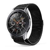 GOSETH für Samsung Galaxy 22mm Watch Uhrenarmband, Milanaise Schlaufe Verstellbar Edelstahl Ersatz Handgelenk Band Magnetverschluss Verschluss für Samsung Galaxy Armbanduhr SM-R800/SM-R805 Fitness Smart Watch 46mm (Schwarz)