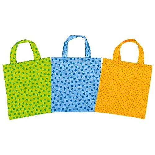 Einkaufsbeutel mit Pünktchen für den Kinder Kaufladen, 3er Set