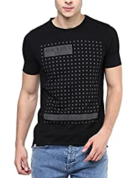 Elaborado Men Round Neck Tshirt - Black
