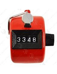 Manual de mano Clicker 4dígitos Número contador (color blanco), no.1