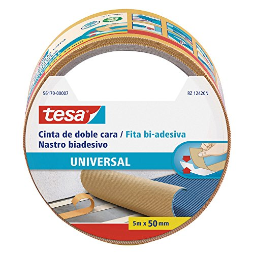 Tesa 56170-00007-01 nastro biadesivo universale, 5m x 50mm