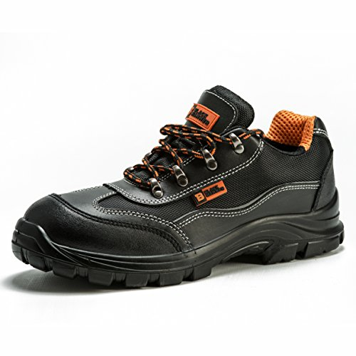 Black Hammer Mens Safety Boots Steel Toe Cap Work Shoes Ankle Trainers...