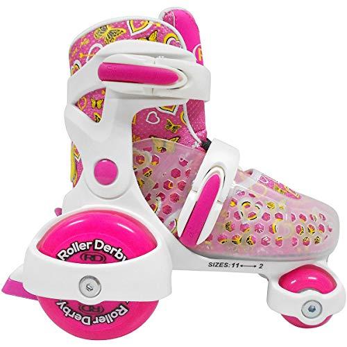 Roller Derby Mädchen Cruiser MX Rollschuhe SMALL 7-11 weiß/rosa