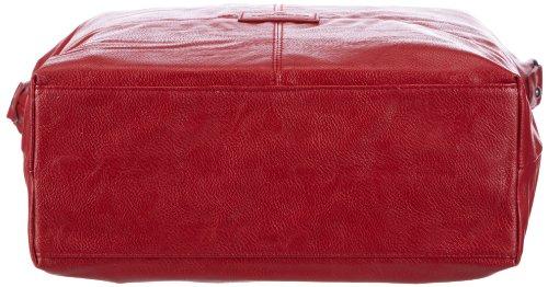 Tom Tailor Acc MIRIPU 10998 Damen Henkeltaschen 39x36x11 cm (B x H x T) Rot (wine 48)
