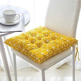 CULASIGN Lot de 4 Coussin de Chaise avec Attaches pour Patio, Maison, Voiture, canapé, Bureau, Tatami décoration (A…