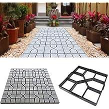 MEYLEE Path Maker plástico Caminar hormigón Molde jardín DIY césped pavimentación, ...