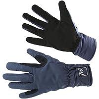 Woof Wear–Guantes impermeables para equitación en color azul marino, color negro, tamaño large
