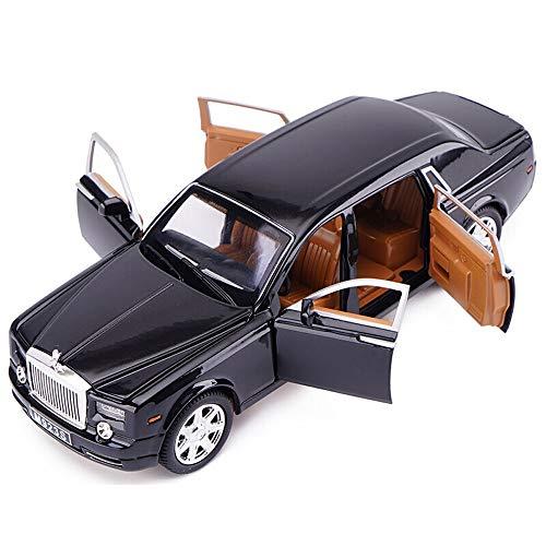 Kikioo 1:24 modellauto legierung auto sammlung zurückziehen spielzeug junge dekoration rooills rooyyce modell simulation original phantom sound licht spielzeug sechs tür rolls royce luxus erwachsene d - Phantom Rolls-royce Modell