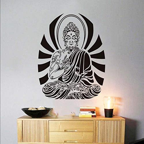 Buddha Wandtattoo Aufkleber Vinyl Kunst Buddhismus Heiligen Muster Wandaufkleber Für Schlafzimmer Wohnkultur Abnehmbaren Klebstoff