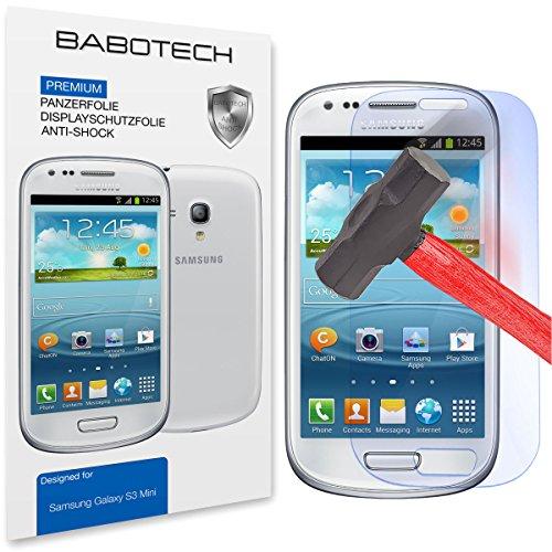 2 x Set BaboTech® Premium Panzerfolie Bildschirm Schutzfolie für Samsung Galaxy S3 mini Klar Extrem Shock-Absorbierend