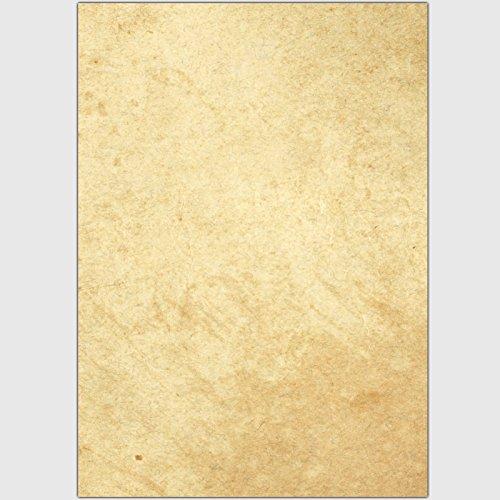 "Designpapier ""Papyrus / Pergament - glatte Struktur"" - DIN A4 / 50 Blatt"
