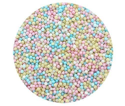 Baptême Mélange Multicolore 4mm Perle sucre dragees 30g pour décoration de gâteaux et cookies