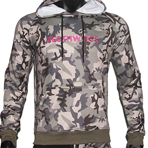 zbinbin Sweater Herren Kapuzenjacke Jugend Print Sportswear M ArmyGreen -