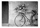 Startonight Leinwand Wand Kunst Schwarz und Weiß Retro Fahrrad, Doppelansicht Überraschung Modernes Dekor Kunstwerk Gerahmte Wand Kunst 100% Ursprüngliche Fertig zum Aufhängen 80 x 120 CM