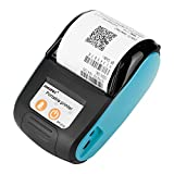 Eboxer Imprimante Thermique Bluetooth Imprimante à Reçu/Ticket de Caisse sans Fil Portable 58mm Impression POS/ESC pour iOS/Android/Windows (Bleu)