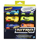 Hasbro – Nerf Nitro – Pack 2 – Ensemble de 6 Autos en Mousse