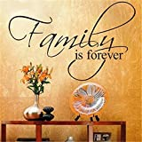 stickers muraux autocollant mural Inspirational Family is Forever pour le salon