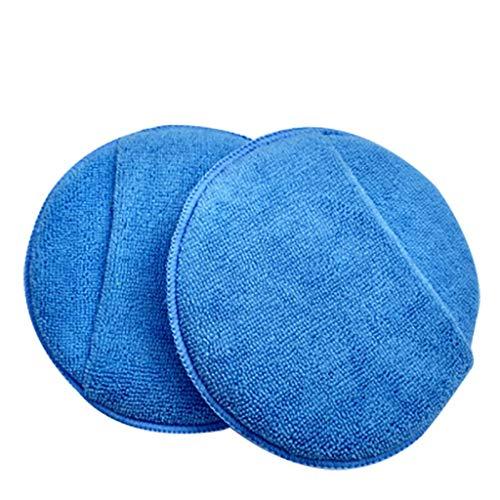 SO-buts Runde Tasche Mikrofaser weiche Küche zu Hause Küchenreinigungsschwamm (Hellblau) -