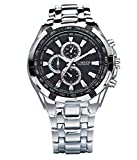Felizer Curren Analogue Silver and Black Dial Men's Watch (CRN)
