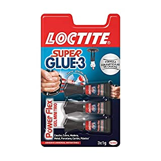 Loctite Super Glue-3 Power Flex Mini Trio, gel adhesivo flexible y resistente, pegamento instantáneo para superficies verticales, pegamento transparente extrafuerte, 3x1g (B00U1OPL8Q) | Amazon price tracker / tracking, Amazon price history charts, Amazon price watches, Amazon price drop alerts