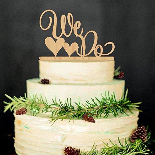 e Topper WIR MACHEN Holz Hochzeitstorte Hochzeit Verlobungsdekor Bevorzugung ()
