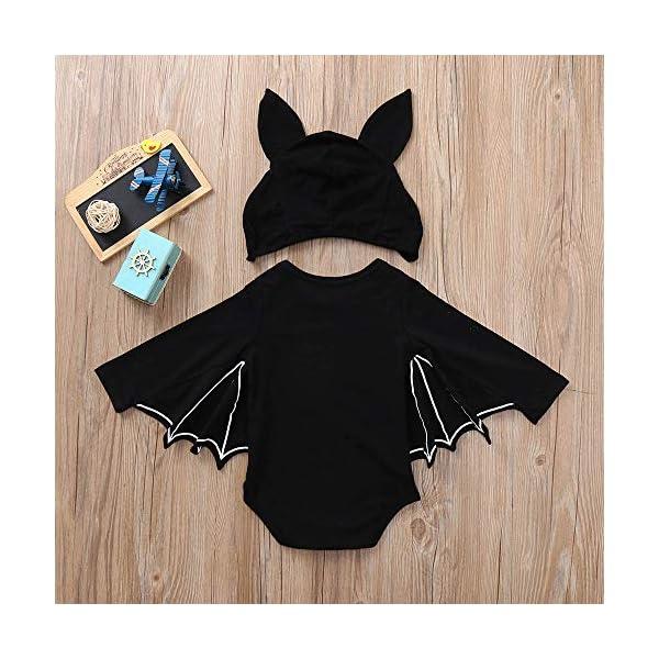 Subfamily Disfraz Halloween niña bebé niño recién Nacido bebé murciélago Mono murciélago Manga Mameluco + Gorro de Oreja… 3