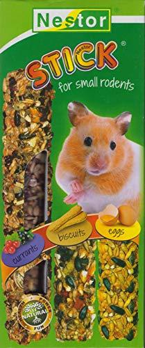 NESTOR 5X 3er Sticls für Hamster Futter Leckerbissen Geschmacksrichtung beeren,Biscuits,Eier