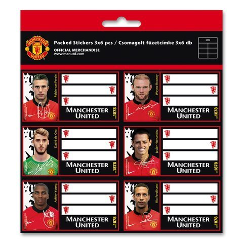 Manchester United Etiketten Kinder Stickers Aufkleber 18 Stück