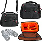 DURAGADGET Large Padded Double-Zip Holdal Case with Adjustable Shoulder Strap for Olympus 8x40 DPSI Binocular, Olympus 10x50 DPS 1 Binocular & Olympus 8-16x40 Zoom DPS I Binocular