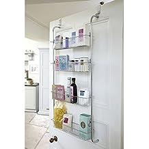 Parte superiorTop Home Solutions® - Estantería de 4baldas en para colgar de la puerta del baño, cocina, estantes de rack de almacenamiento