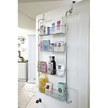 Taylor & Brown® 4 Tier Chrome Over Door Hanging Kitchen Bathroom ...