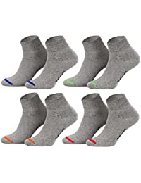Tobeni 8 Pares de Calcetines Cortos Cuartos sin Goma para Mujer y Hombre en uni o Cordon coloreado