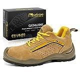 safetoe Zapatos de Seguridad Deportivos y Industrial 7296 Zapatos de Seguridad Trabajo con Puntera de Acero Para Hombres
