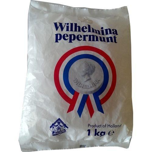 Wilhelmina Peppermunt Pastillen 1000g Beutel (Pfefferminz)