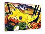 Franz Marc - Die gelbe Kuh - 1911-120x80 cm - Leinwandbild auf Keilrahmen - Wand-Bild - Kunst, Gemälde, Foto, Bild auf Leinwand - Alte Meister/Museum