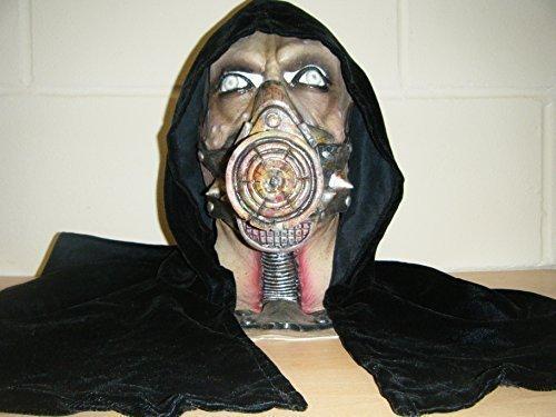 mit Kapuze Gas Maske Monster Zombie Deluxe Halloween Voller Kopf Kostüm (Halloween Mit Gas Kostüme Maske)
