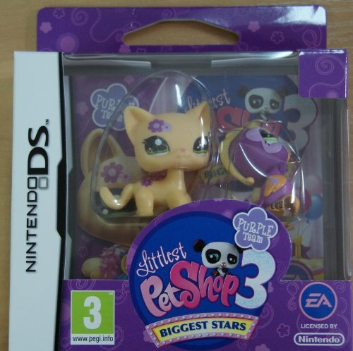 Littlest Pet Shop 3 : Biggest Stars : Purple Team inkl. 2 Pet Shop Figuren - Pet Ds-littlest Shop