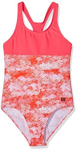 Schiesser Mädchen Badeanzug, Mehrfarbig (Orange 602), 140
