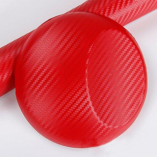 ILOVEDIY Autofolie 3D Auto Flexibel Fiber Carbon Folie Aufkleber Lackschutzfolie (Rot, 30x127cm)