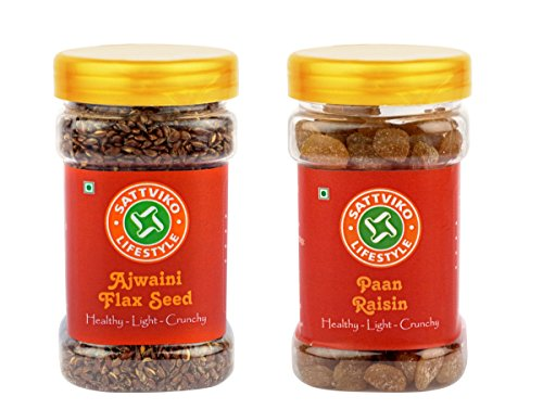 Sattviko Paan Raisin and Ajwaini Flax Seed  available at amazon for Rs.136