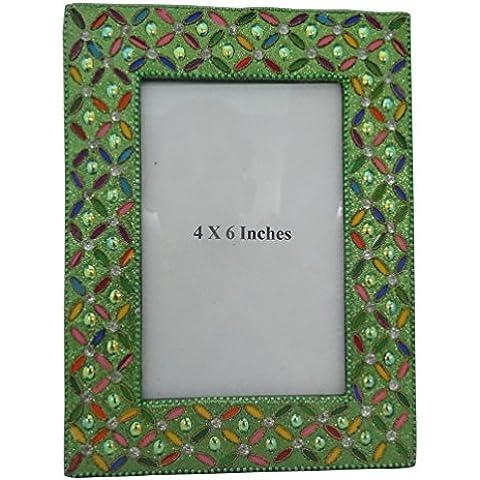Indian Home Marco de la decoración de estilo vintage marco de fotos decorativa moldeada hecha a mano material de marco antiguo regalo de