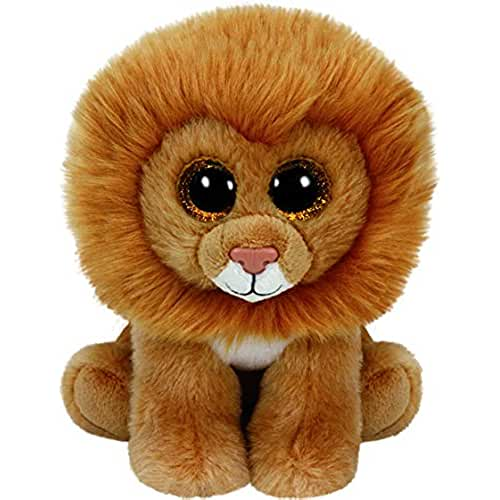 peluches TY - Beanie Babies Louie, león, 15 cm (United Labels Ibérica 42107TY)