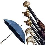 ZXLIFE Reise-Regenschirm-8 Rippen-windundurchlässiges schnitzendes Tier-starker tragbarer Edelstahl-Bau-schnell trocknender faltender wasserdichter Regenschirm für Frauen, Männer, Kinder und Kinder