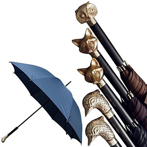 JAYLONG Paraguas de viaje 8 costillas a prueba de viento Animal resistente Construcción portátil de acero inoxidable Secado rápido paraguas plegable impermeable para mujeres, hombres, niños y niños , D