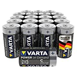 Varta Pile Power on Demand Confezione 20 Batterie Alcaline, Tipo C LR14 Baby Mezzatorcia