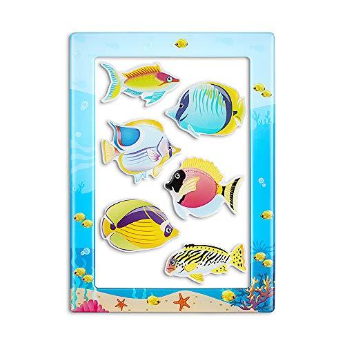 M MORCART Fisch Magnet Kühlschrank Magnete Set Tier Fridge Magnets Küche Eisen Schließfächer Büro etc Zubehör Geeignet für Kleinkinder und Erwachsene(Set of 7)