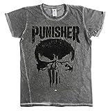 Photo de Officiellement Sous Licence Marvel's The Punisher Big Skull Urban Coupe Slim Hommes T-Shirt (Gris) par Marvel